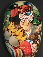 Vintage Paper Mache Easter Egg Spring Candy Container West Germany
