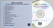 ERIC CLAPTON CD Clapton Chronicles International Sequence UK ACETATE Rare 1999