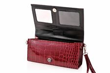 Eye Pockit Multi-Purpose Clutch, Glasses Case, RFID Wallet+Phone combo -Red Croc