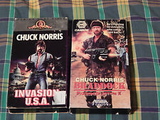 Invasion USA + BRADDOCK: Missing In Action III + The Hitman(VHS x3) Chuck Norris