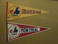 MLB Montreal Expos Vintage Defunct Circa 1970's & 1990's Logo Baseball Pennants