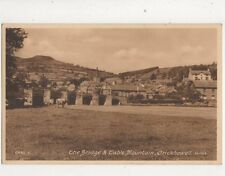 Bridge & Table Mountain Crickhowell Vintage Postcard 450b