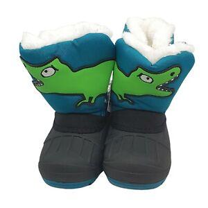 Cat & Jack Toddler Boys' Green Huxley Dinosaur Water Resistant Winter -10F Boots