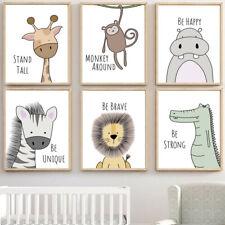 Giraffe Animal Poster Nordic Kid Room Nursery Decor Hanging Wall Painting Canvas