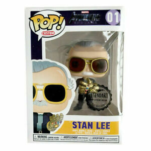 Marvel Avengers Stan Lee With Infinity Gauntlet #01 Funko POP PVC Figure Toy A