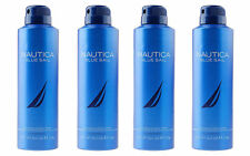 Nautica Blue Sail Deodorizing Body Spray for Men 6.0 oz 170 g (Lot of 4)