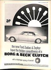 Original Vintage 1960s Borg & Beck Clutch Advert Motor Magazine 23 April 1966
