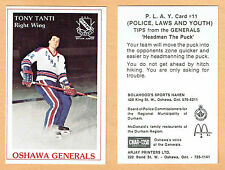 1982-83 Oshawa Generals Tony Tanti Pre-Rookie