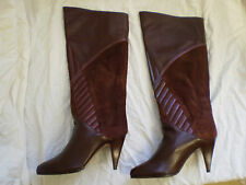 Womens MEDIRA Summer Brown Leather Pull On Knee High Boots New Size UK 3 3.5 4