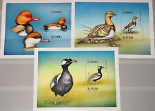 ZAMBIA SAMBIA 2000 Block 78-80 S/S 901-02 World Birds Vögel der Welt Fauna MNH