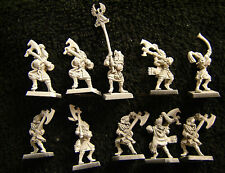 Warhammer High Elves White Lions Chrace Warriors army lot metal