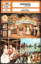 CARROUSEL - MacRae,Jones,Mitchell,King (Fiche Cinéma) 1956 - Carousel