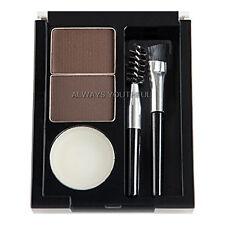 NYX Eyebrow Cake Powder (ECP02) DARK BROWN  Makeup Kit inc wax powder brushes