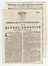 1757, oct.25, Leide Gazette, Fort William-Henry Taken by Montcalm, Capitulation