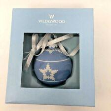 Wedgwood Christmas Ball Star Relief Blue & White Christmas Tree Ornament