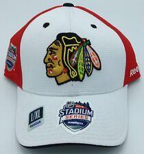 NHL Chicago Black Hawks Reebok Structured Curved Brim Flex Fit Cap #M667Z NEW