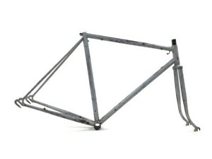 Unbranded 53 cm 28/700c Road Racing Touring Steel Gray Vintage Bicycle Frame