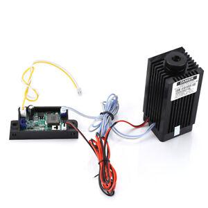 DIY TTL CNC 5.5W 5500mW 450nm Blue Laser Module Engraver Cutter w/ Free Goggles