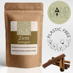 100g ZIMTSTANGEN | 8cm ZIMT | Zimtrinde Cinnamon ganz | Plastikfrei | JKR Spices