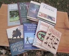 8 BOOKS HORSE TRAINING WESTERN ENGLISH NO PROBLEM PERFORMANCE MARE LONGEING +++