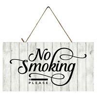 No Smoking Please Printed Handmade Wood Sign