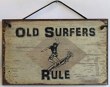 5x8 Sign OLD SURFERS RULE Beach Bum Shore Vacation House Home Dude Islands Ocean