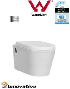 Wall Mount Wall Hung Toilet, Soft Close Seat,In Wall Concealed Cistern WELS4*
