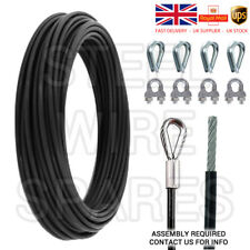 Gym Câble Câble 5 mm Noir Nylon Enduit pour 6.5 Mm 15 Mètre & accessoires CAB40