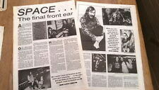 HAWKWIND Space the final front ear 2 page UK ARTICLE / clipping 1990