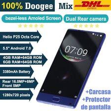 "5.5"" DOOGEE MIX Teléfono Móvil 4G Android 7.0 4+64GB Octa Core Smartphone Negro"