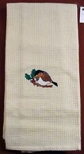 """NEW 18"""" x 28"""" EMBROIDERED WAFFLE KNIT COTTON TEA TOWEL"""