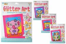 Glitter Art Set Elephant Butterfly Cat Princess Kids Craft Creative Fun