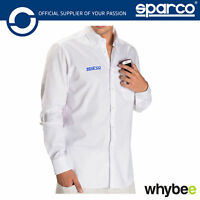 New! 011774 Sparco Racing Long Sleeve Shirt with Collar 100% Cotton Sizes XS-XXL