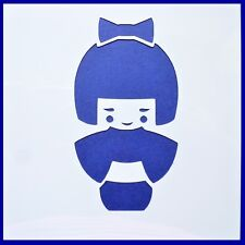Flexible Stencil LITTLE GEISHA GIRL Japan Japanese Doll Card Making 10cm x 10cm