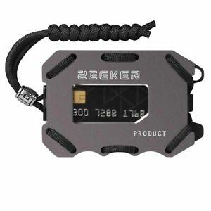 Men Metal EDC Wallet Front Pocket Wallet Slim Card Cash Clip Cards Sturdy Trendy