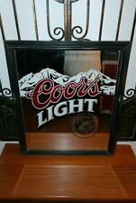 Coors Light Beer Sign Mirror Waterfall