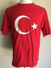 Turkey (Made In Turkey) Red National Flag Pride Country T-Shirt Large