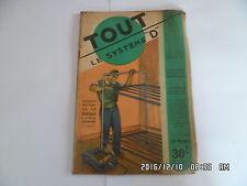 SYSTEME D N°60 12/1950 LIT METALLIQUE SUPERPOSE MOTEUR POUR VELO CIREUSE   D38