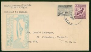Mayfairstamps Canada First flight cover 1939 Botwood to Dublin Ireland wwp79669