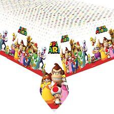 Super Mario Festa Compleanno Articoli per Tavola Palloncini Decorazioni Amscan Tovaglia Cerata (137cm x 243cm)