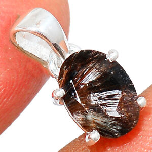 Faceted Cacoxenite - Brazil 925 Sterling Silver Pendant Jewelry BP59957