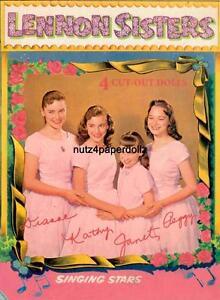 VINTGE 1957 LENNON SISTERS PAPER DOLL ~WHITMAN RARE CUTE~ UNCUT LASR REPRODUCTIN