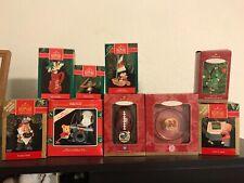 Lot Set of 9 Various Hallmark Keepsake Ornaments Mib *