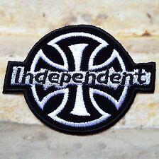 Capa de brazos parche bordado termoadhesivo Cruz Independent Moteros