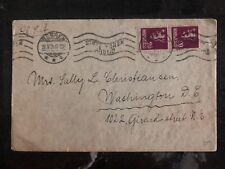 1926 Bergen Norway Cover To Washington Dc Usa Red Wax Seal