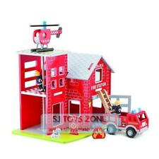 New Classic Toys - Large Fire Station Pretend Play Toy