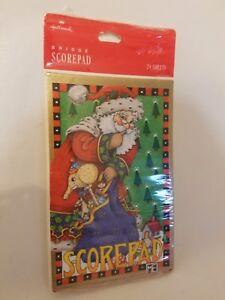 Mary Engelbreit Christmas Bridge Card Scorepad Hallmark Cards Score Pad NEW