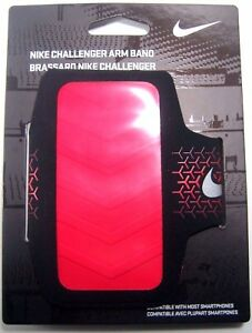 NWT NIKE WOMENS CHALLENGER ARM BAND - Blue Or Black Red One Size Fits Most