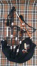 CORNEMUSES Noir palissandre Argent Supports/écossais cornemuses/HIGHLAND