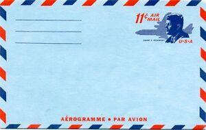 Mint US Aerogram Size #6, Scott #UC 38 - Kennedy